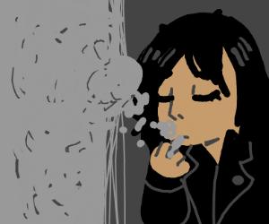 whore is smoking