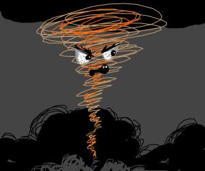 angry orange tornado