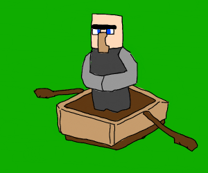 Villager and boat (minecraft)