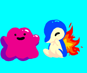 Kawaii Cyndaquill and ditto