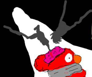 Elmo's Brain being experimented on