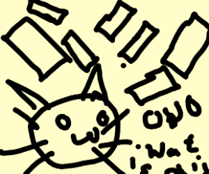 OwO Cat and Confetti