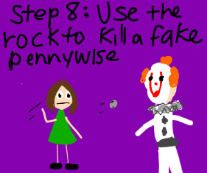 Step 7: get a rock, cause its halloween