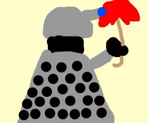 Dalek with umbrella