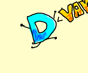 Drawception logo is excited