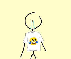 stickman with emoji tshirt