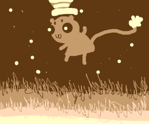 Cat in the Hat jumping over a Lawn