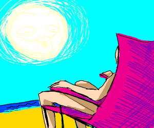 Sunbathing in b'day suit - but SFW