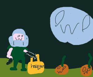 OwO guy, OwO moon and OwO pumpkins