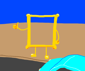 a picture frame hitchhikes