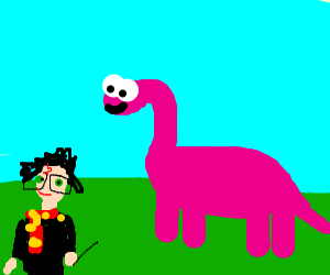 harry potter and a pink dinosaur