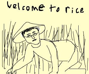 Filthy Frank in the rice fields
