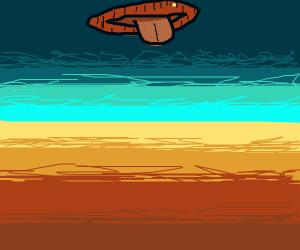 The sky has massive lips