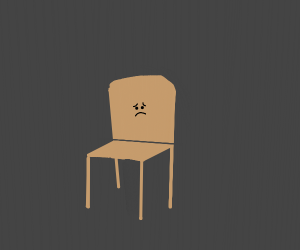 a lonely chair
