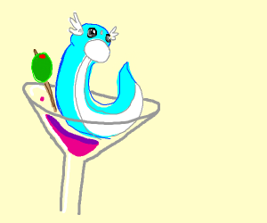 Dratini in a martini