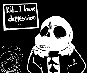 Skeleton with depression