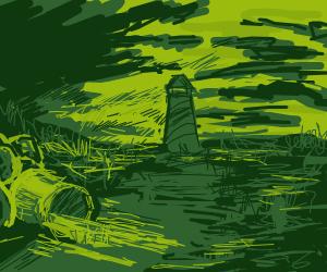 lighthouse in a dump