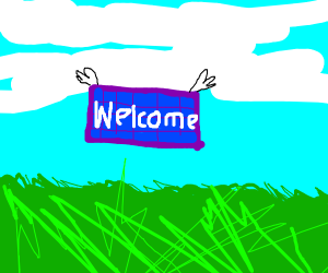 welcome mat in the sky