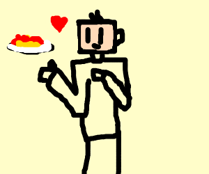 Blockperson LOVES spaghetti