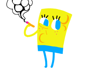 Spongebob smokes