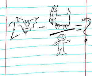 ''bats'' -goat/man