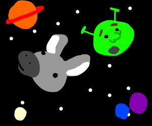 Shrek and Donkey IN SPACE