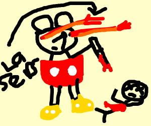 laser eyes mickey mouse boutta stab somebody