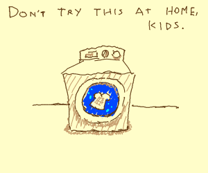 Toast in the washing machine