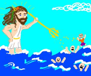 Ocean god coming to help people