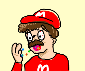 Mario eating Marbles
