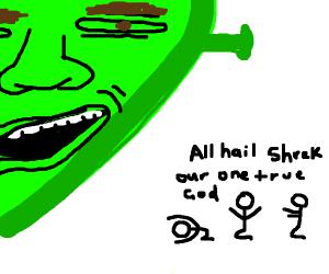shrek is god, shrek is life