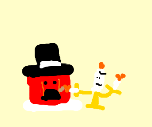 jello with hat burnt by candle