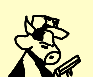 Cow Police Officer