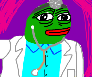 pepe the frog as a doctor