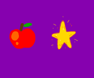 apple and star