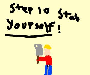 step 9: stab the hobo back