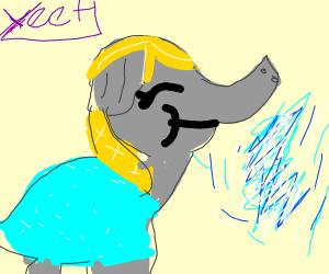 Frozen elephant