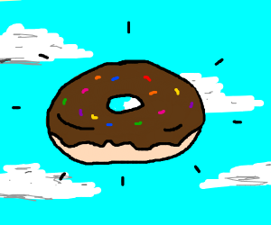 Donut in the air