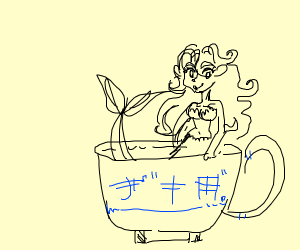 mermaid in a cup