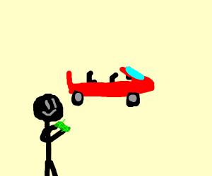 rich man with car