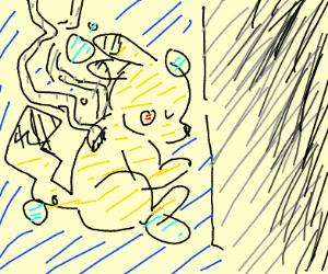 Pikachu fetus in test tube