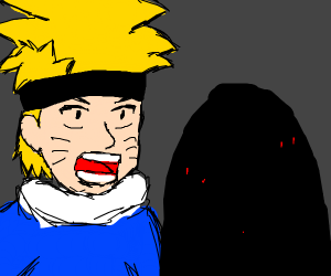 Naruto thinks cave is too spoopy