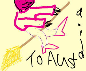 Pink Witch on the way  to Australia