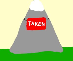 Sorry, this mountain is taken.