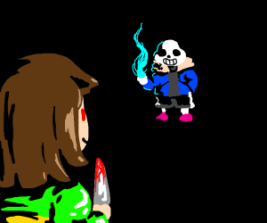 Deltarune) Evil Kris vs Gaster - Drawception