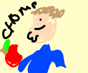 peter griffin eating book apple for no reason