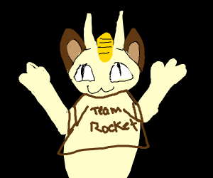 Meowth From Team Rocket