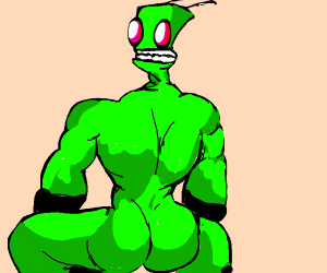 Invader zim but he's h a w t