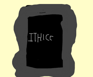 THICC tablet and XXI century earphone