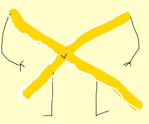 that familliar yellow X